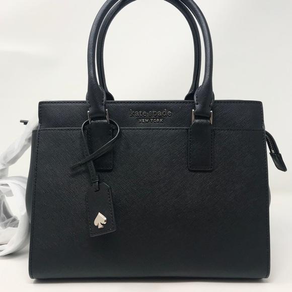 kate spade Handbags - Kate Spade cameron medium satchel bag black